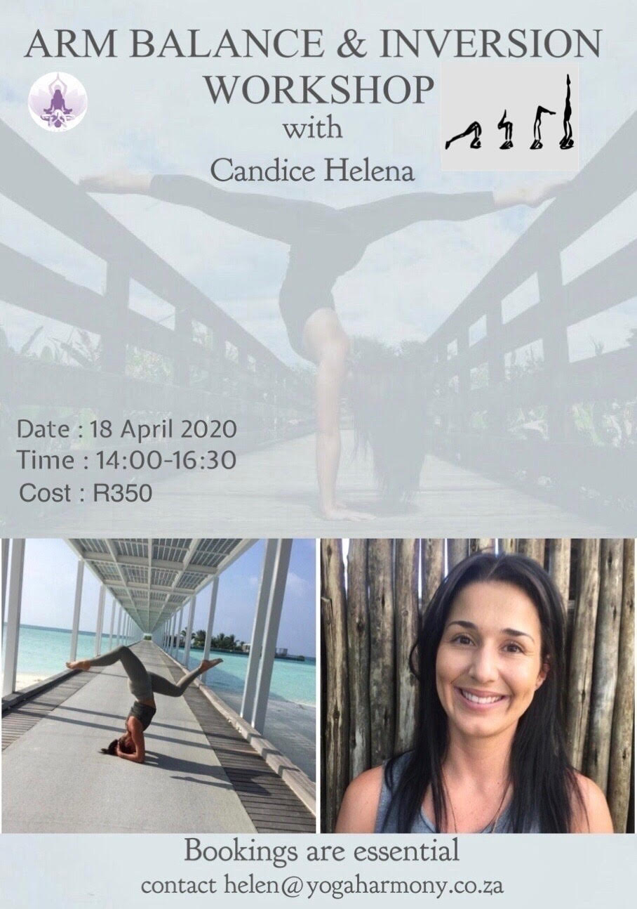 arm balance and inversion workshop with candice helena