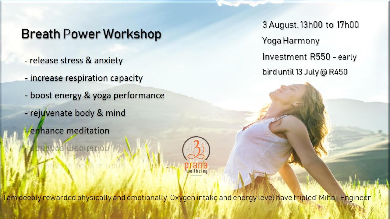 Workshops - Yoga Harmony - Maroelana, Pretoria